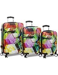 Rolite 3-Piece Lightweight Hardside Spinner Luggage Set, Ripple