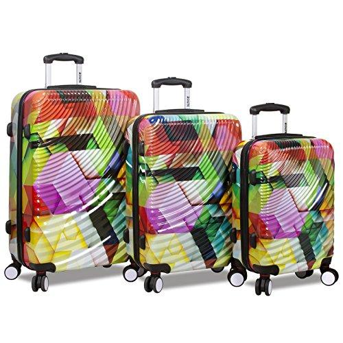 Rolite 3-Piece Lightweight Hardside Spinner Luggage Set, Ripple by Rolite