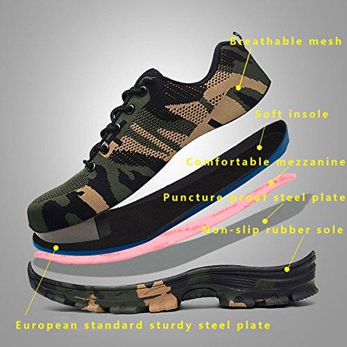 CHNHIRA Chaussures de Sécurité Homme Embout Acier Protection Confortable Léger Respirante Unisexes Chaussures de Travail 3