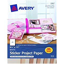 Avery Sticker Project Paper, Pack of 15