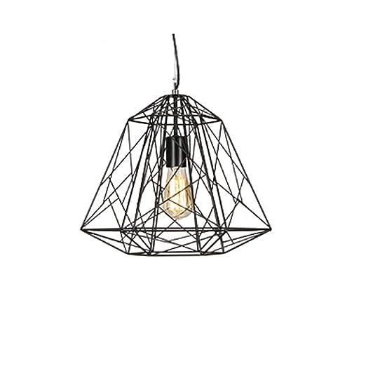 Araña de interior Lámpara de jaula de hierro creativa Lámpara ...