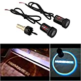CHAMPLED For HUMMER Laser Projector Logo Illuminated Emblem Under Door Step courtesy Light Lighting symbol sign badge LED Glow Car Auto Performance Tuning Accessory