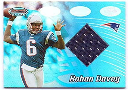 373e642c20b Image Unavailable. Image not available for. Color: Rohan Davey 2002  Bowman's Best Rookie Worn Jersey #101 - New England Patriots