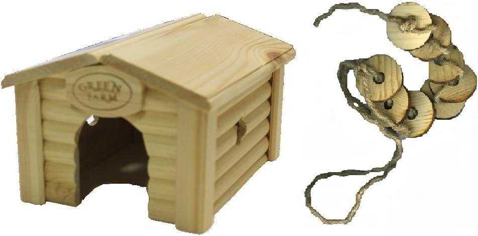 Green Farm Ridged Roof House Chew Toy