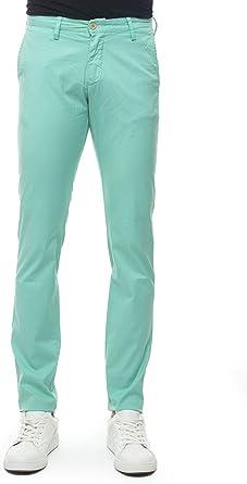 Guante pantalón Modelo Chino Verde Agua algodón Hombre Verde ...
