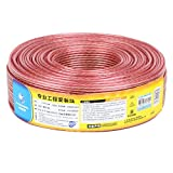 Choseal DIY Speaker Cable Pure Oxygen-Free Copper Audio Cable speaker wire (18 AWG, 200 FT)