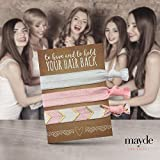 Mayde Ribbon Hair Ties, Hair Bands Party Favors Kit for Bachelorette or Bridal Parties