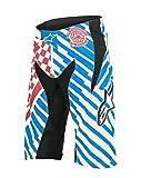 Alpinestars Men's Sight Speedster Shorts, Red/Bright Blue, Size 32
