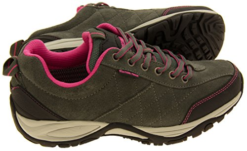 Cuero para mujer NORTHWEST TERRITORY zapatos impermeables para caminar Gris
