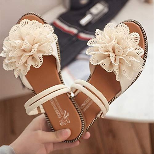 Wangcui Beige Plage De 1 Femmes Clip 3 Casual Flip Bohème Chaussures Pieds Fleurs 37 Beige Taille Femmes Flops EU Couleur HqwrvnHp