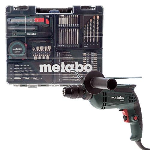 Metabo Schlagbohrmaschine SBE 650 Mobile Werkstatt mit 79-teiligem Zubehörset, 600671870