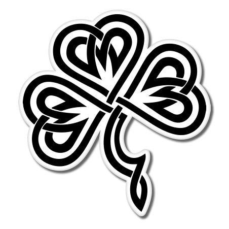 (Shamrock Celtic Vinyl Sticker - Car Phone Helmet - SELECT SIZE)