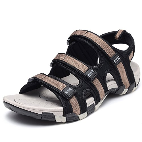 Odema Mens Summer Shoes Size Plus Open Toe Strap Outdoor Beach Sandals