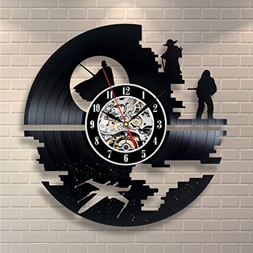 Star Wars Vinyl Record Clock Home Decor (Home Made Star Wars Costumes)