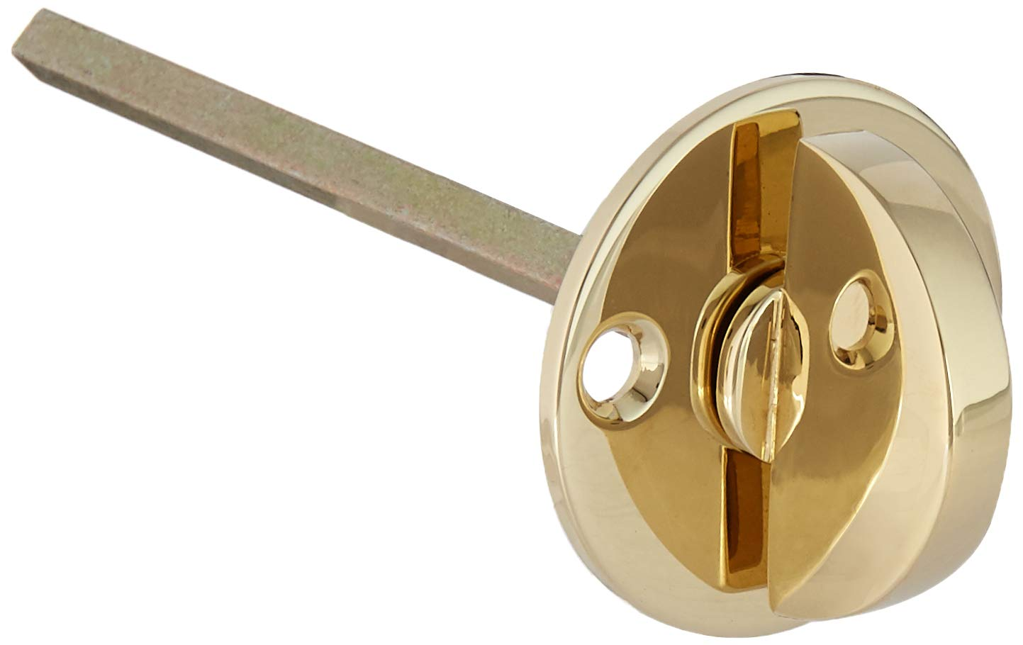Baldwin 6750.EXT Interior and Entrance Lock with Backplate for Thicker Than 2 1 Lifetime Polished Brass