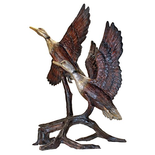 Design Toscano Steep Climbing Ducks Cast Bronze Garden Statue