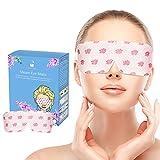 Simpleme Warm Steaml Eye Mask - Single Use Heated Eye SPA Steam Eye Pillow Relieve Eye Tiredness Remove Eye Dark Circles (10 Pieces)