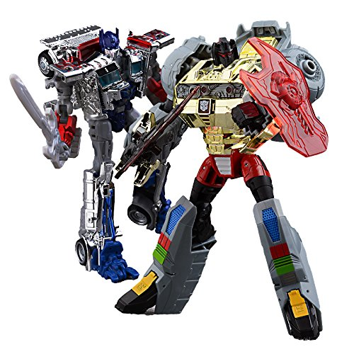 Transformers Age of Extinction Silver Knight Optimus Prime and Grimlock Exclusive Figure Set