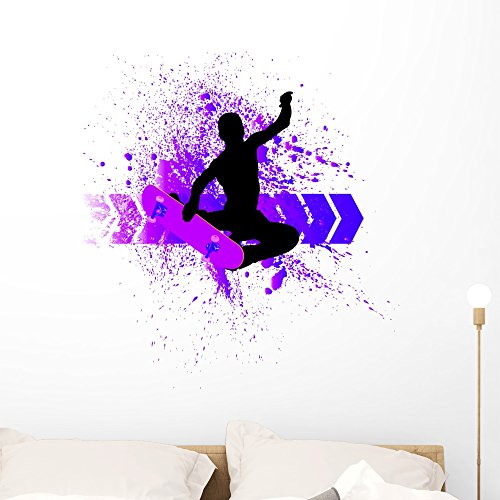 Wallmonkeys Skateboard Wall Mural Peel and Stick Graphic (36 in H x 34 in W) ()