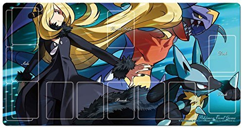 Pokemon Gym Exclusive Cynthia's Full Power Card Game Character Rubber Play Mat Garchomp Lucario