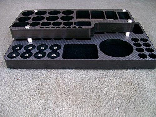 JWraps Titan Custom Stand For E-Cigarette (E-Cig) MOD Vaporizer Accessories Organizer Holder Topped In Gray Carbon Fiber Wrap Skin