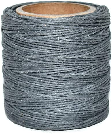 .030 Gray Waxed Polycord Includes 2 spools. 210 feet each Maine Thread