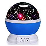 Elecstars ES0 Blue Star Night Light Projector, Colourful Night Lamp for Kids Children Rotating 3 Modes Romantic...