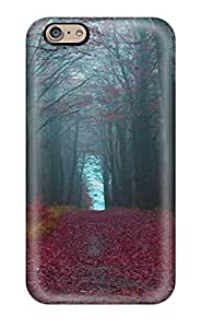 Iphone 6 EjvxHrn473FzOHy Red Forest Pathway Tpu Silicone Gel Case Cover. Fits Iphone 6