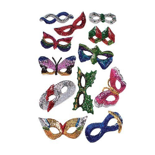- Dozen Assorted Sequin Masks