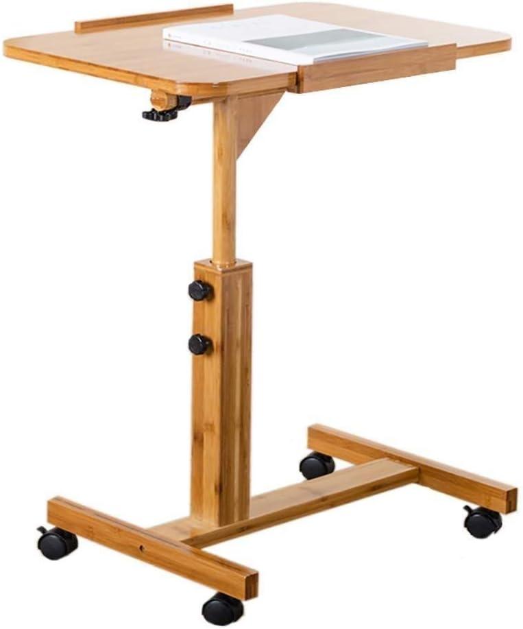 Yzjk Laptop Table Side Table Desk End Bedside Laptop Table With Pulley Movable Bedside Simple Desk Adjustable Lifting Tilt Lazy Table Coffee Table Color Wood Size 60406294cm Amazon Co Uk Kitchen Home