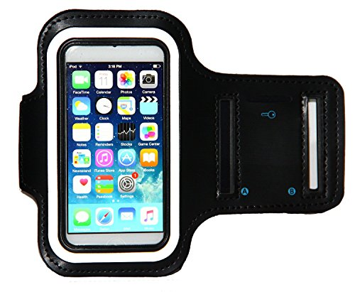 [해외]iPod Touch 6 세대 (6G) 운동 & amp; /iPod Touch 6th Generation (6G) Exercise & Running MP3 Player Armband Case with Key Holder & Reflective Band