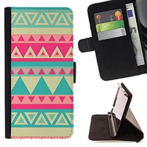 Jordan Colourful Shop - teal yellow pink lime pink Indian pattern For Apple Iphone 6 - Leather Case Absorci???¡¯???€????€???????&bdq