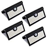 LIGHTESS Solar Lights Outdoor Wireless 42 LED Motion Sensor Solar Lights with Wide Lighting Area Waterproof Security Lights for Front Door Back Yard Driveway Garage, 4-Pack