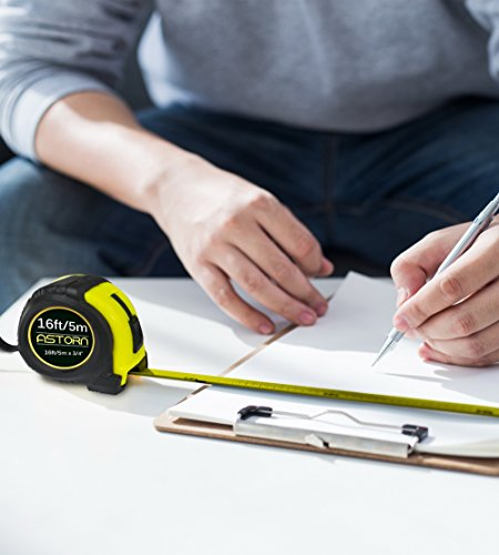 Measuring Tape For Contractors & DIY | Tape Measurer (Cinta Metrica) | Metric & Inches Measuring Tape for Construction | Heavy Duty Tape Measure with Smooth Sliding Nylon Coated Ruler by Astorn by Astorn (Image #6)