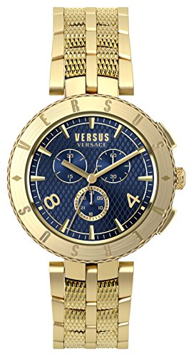 Versus By Versace Logo Gent Chrono Quartz Stainless Steel Watch, Model: S76160017