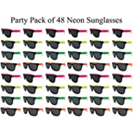 The Gags Wholesale Party Pack-48 Assorted Cool Colors Neon Sunglasses for...