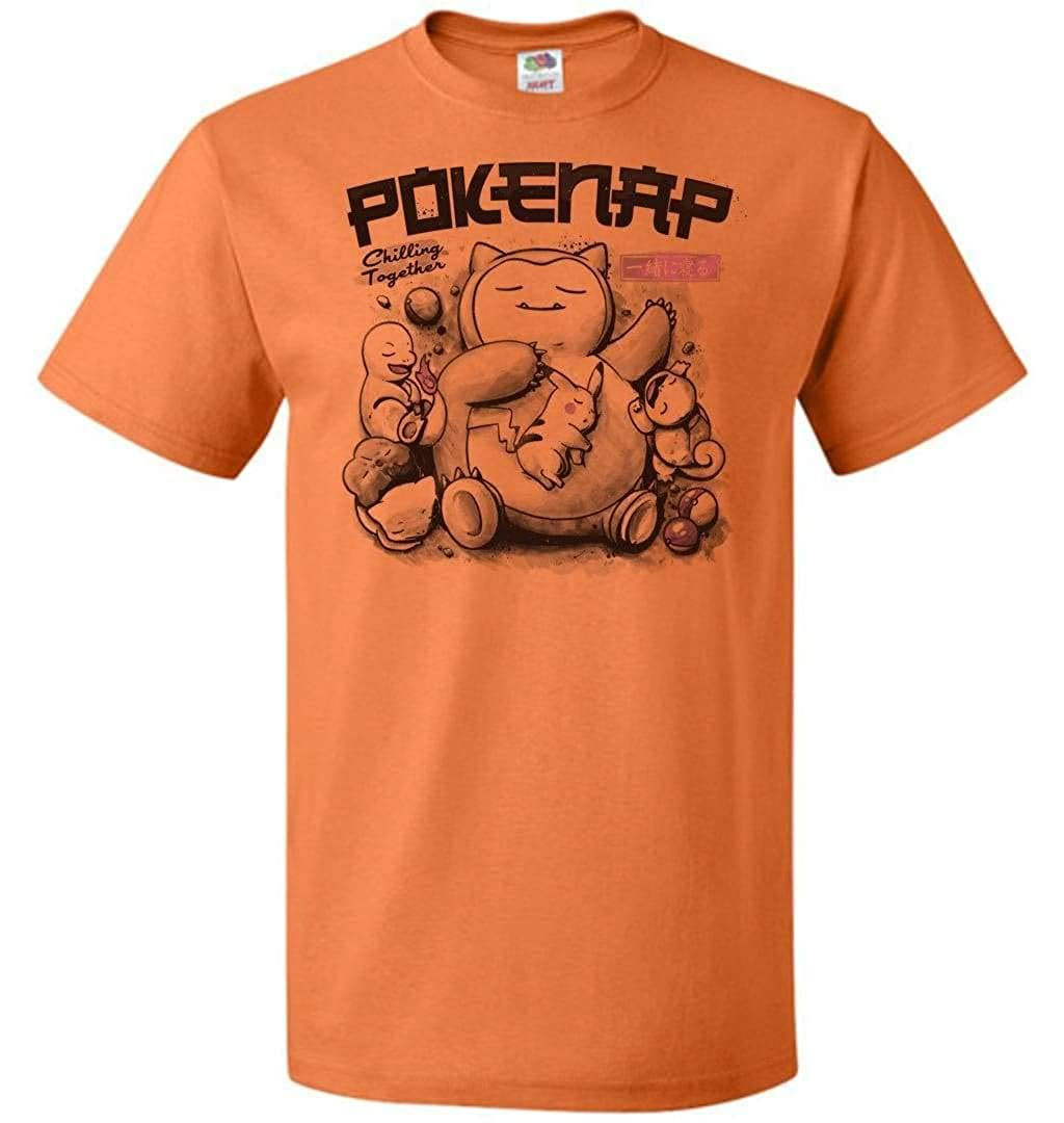 Pokenap Unisex T-Shirt Pop Culture Graphic Tee Nerdy Geeky Apparel