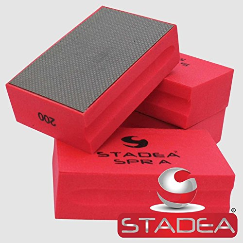 STADEA Diamond Hand Polishing Pad Electroplated Grit 200 for Granite Concrete Terazzo Polishing - Marble Diamond Floor Polishing Pad