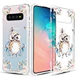 Caka Clear Case for Galaxy S10 Clear Floral Case Animal Flower Pattern Animal Floral Series Slim Girly Anti Scratch Excellent Grip Premium Clarity TPU Crystal Case for Samsung Galaxy S10 (Owl)