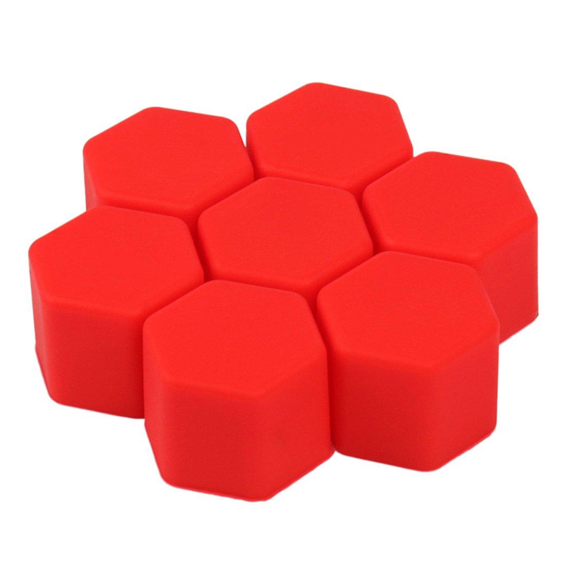 Andux Zone Wheel Lug Nut Covers 21mm 20PCS LSBHT-01 Red
