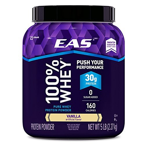 Eas Protein Calories (EAS Sports Nutrition 2.2Kg Vanilla Tub Whey Protein by EAS Sports)