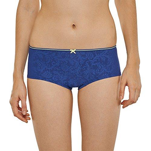 Schiesser Uncover Bikini Hipster - baño Mujer azul (dunkelblau 803)