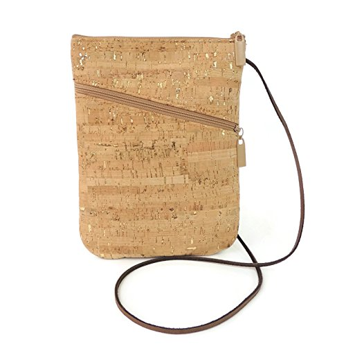 Cork Dash Gold Crossbody Social Bag Purse by Spicer Bags by SPICER BAGS