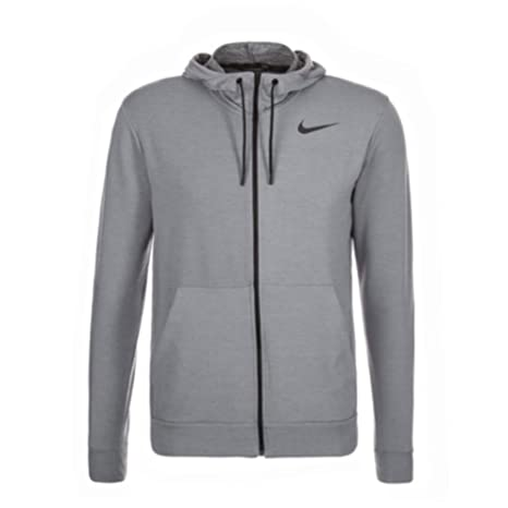 25354876 Nike Men's Dri-Fit Fleece Full Zip Jacket, Cool Grey/Pure Black ...