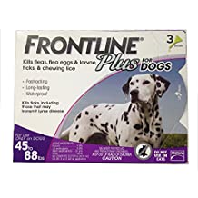 Frontline DFRLGPLUS 3-Pack 45 to 88-Pound Plus Dogs Flea and Tick Treatment, Large, Purple