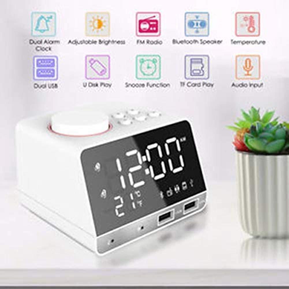 Amazon.com: ZK HOME- Alarm Clock Bluetooth Bass Speaker FM ...