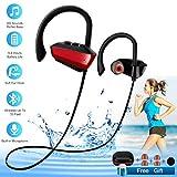 Wireless Bluetooth Headphones Sport Waterproof Bluetooth Earphones with Mic for Running in-Ear Wireless Sport Earbuds 8 Hour Playtime Bass Stereo Sweatproof Headphones for Workout Gym Men Women