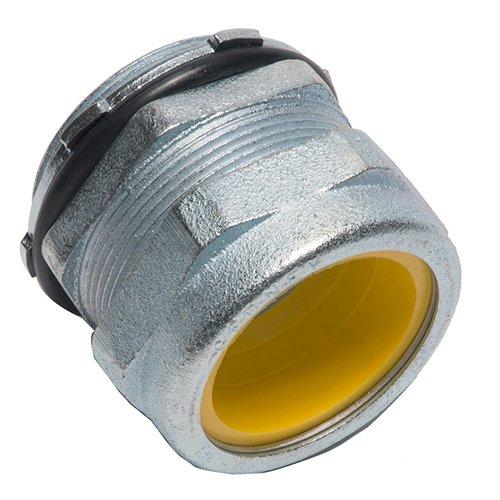 1.80-2.10 Cable Range Diameter Over Jacket 3 Diameter 2.06 Body L 1.93 Throat ID 2-1//2 Hub Sz 0.63 Thread L Malleable Iron 2-1//2 Hub Sz 1.80-2.10 Cable Range Diameter Over Jacket O-Z//Gedney SR-25021 Gold Seal Strain Relief Conn