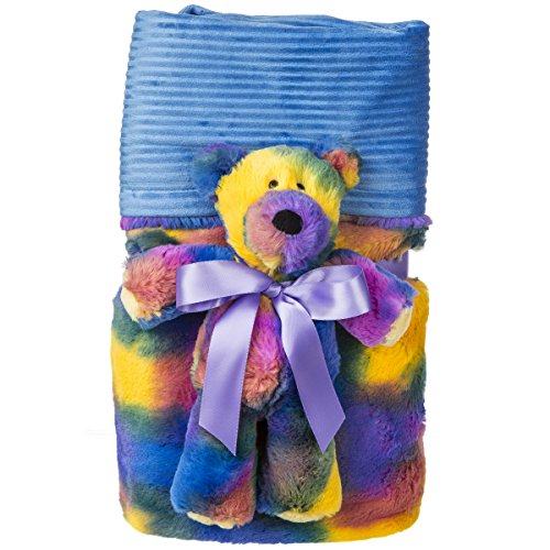 Mary Meyer Marshmallow Cuddle Blanket and Soft Toy Set, Tie Dye Teddy