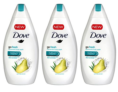 Price comparison product image Dove Go Fresh Body Wash, Pear & Aloe Scent, 16.9 Ounce / 500 Ml (Pack of 3)